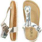 Lesara Kinder-Zehentrenner-Sandale in Metallic-Optik - 29