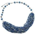 Jablonec Korálkový náhrdelník 17fxa553-31 - modrý