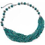 Jablonec Korálkový náhrdelník 17fxa553-32 - tyrkysový