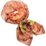 Jablonec Šála s bižuterií Kamila 396kam004-11a - oranžová s květinovým vzorem