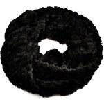 Tunelová kožešinová šála 69tz001-70c - černá