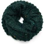 Tunelová pletená šála 69fx001-53.02 - zelená
