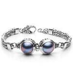 Buka Jewelry BUKA Stříbrný náramek Mabe modrý 631