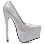 Couture Lodičky na platformě stříbrný třpyt Velikost: 39/25,5 cm Akční cena
