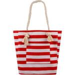 Textilní pruhovaná taška - Červená a bílá univerzal