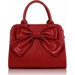 LS Fashion Dámské kabelky, elegantní kabelka červená