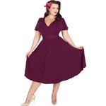 Retro šaty Lady V London Purple Lyra 44