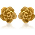 Unique Jewelry Gelbvergoldete Ohrstecker 925er Silber Blüte SE0654
