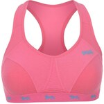 Lonsdale Crop Top Ladies Fluo Pink/Vibrant Blue 32C
