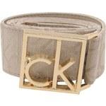 Calvin Klein Printed Buckle Belt Ladies Light Stone 069 36