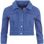 Golddigga Cropped Denim Jacket Ladies Blue 10