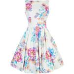 Retro šaty Lady V London Summer Pastel Floral Tea