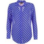 Golddigga Polka Dot Shirt Ladies Blue/White 8 (XS)