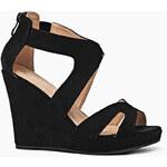 LAURA MODE Dámské sandály na klínu lm-1011_Black