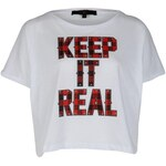 Rock and Rags by Firetrap Keep It Real Crop Top White Extra Sml