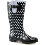 Golddigga Festival Ladies Wellingtons Black/White 3