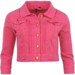 Golddigga Cropped Denim Jacket Ladies Pink 8