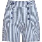 Retro kraťasy Lindy Bop Coco Blue Stripe