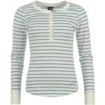 Voodoo Dolls Long Sleeve Stripe Tshirt Ladies Winter White 8 (XS)