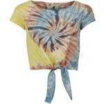Kangol Tie Dye Crop T Shirt Ladies Pink 12
