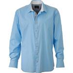 Pánská košile Casual - Světle modrá a bílá S