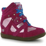 Skechers D Trouble Girls Trainers Hot Pink/Multi C11.5