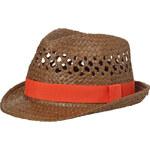 Klobouk Style - Hnědá a červenooranžová S/M