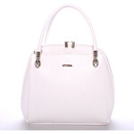 Dámská luxusní kabelka matná bílá - Maggio Florencia bílá
