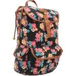 Lee Cooper Print Ruck Sack Ladies Black Floral N