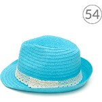 Art of Polo Trilby klobouk s krajkou tyrkysový