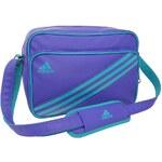 adidas 3 Stripe Enamel Bag S Ladies Purple/Emerald N
