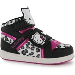 Hello Kitty Hi Top Childrens Trainers Black/Pink C6