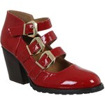 Rock and Rags Rita Buckle Shoes Red 3