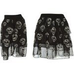 Poizen Industries Skull Mini Skirt Ladies Black 10 (S)