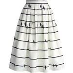 CHICWISH Dámská sukně Midi Sing a Love Song Velikost: S