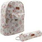 Lee Cooper Backpack and Pencil Case Set Girls Floral N