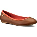 Baleríny TOMMY HILFIGER - Anne 3 FW56815149 Cognac/Red Orange 606