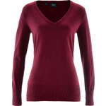 bpc bonprix collection Basic Feinstrick-Pullover langarm in rot für Damen von bonprix