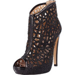 El Dantes Kotníkové boty na podpatku D15194-08NEGRO - RASO CHAROL NEGRO, 41