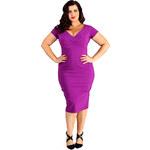 Retro šaty Lady V London Cadbury Purple Ursula