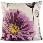Povlak na polštář květ - Fialová univerzal