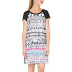Desigual černo-bílé šaty Risueno