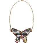 Desigual barevný náhrdelník Mariposa Marine