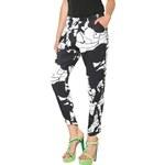 Desigual černo-bílé kalhoty Derram