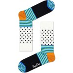 Happy Socks barevné dámské ponožky s puntíky a proužky