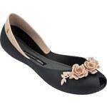 Melissa černo-béžové boty Flower Queen Black/Beige