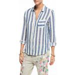 Scotch&Soda modro-bílá košile Linen Beach