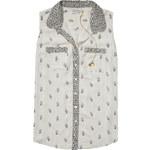 Scotch&Soda krémová košile Sleeveless Shirt
