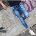 Klixs Jeans Trendy slim džíny modré , Barva Modrá, Velikost 42