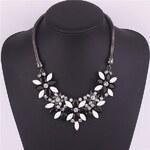 Lodestar Masivní květinový náhrdelník černý